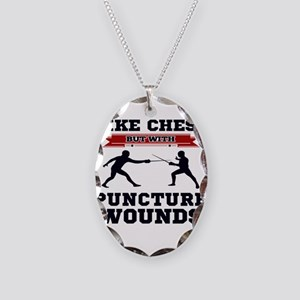 Like Chess But Without Punctur Necklace Oval Charm