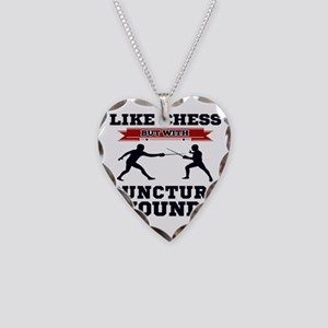 Like Chess But Without Punctu Necklace Heart Charm