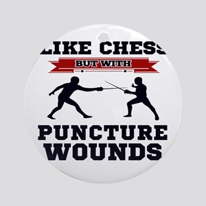 Like Chess But Without Puncture Wou Round Ornament