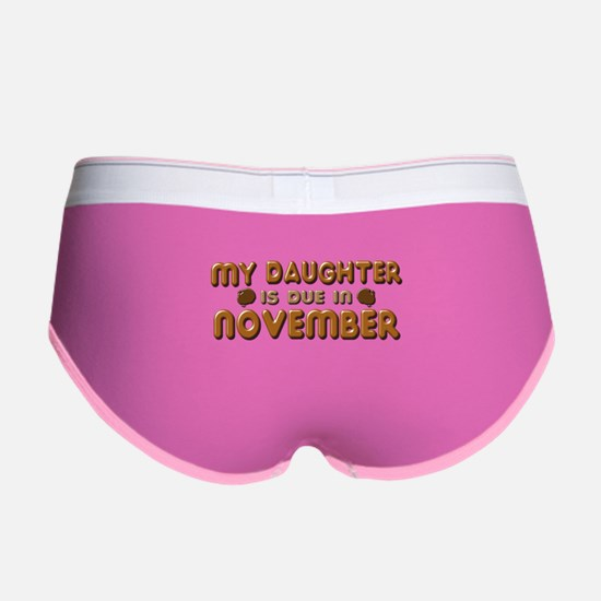 My Daughter is Due in November Women's Boy Brief
