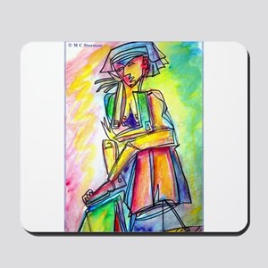 Abstract nart, nude, Mousepad