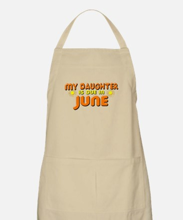 My Daughter is Due in June Apron