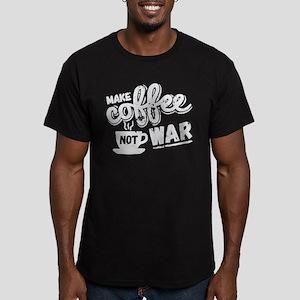 Make Coffee Men's Fitted T-Shirt (dark)
