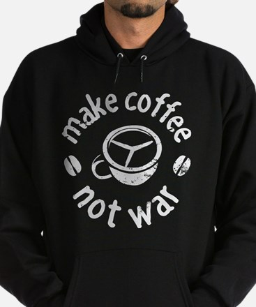 Coffee Not War Hoodie (dark)