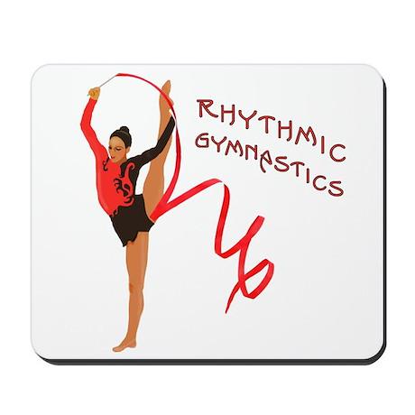 Red Gymnast Ribbon Mousepad