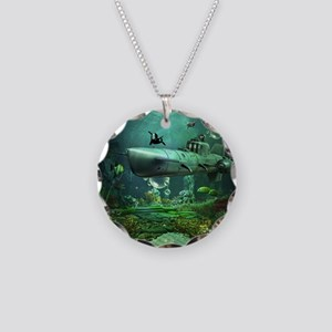 Awesome submarine with orca and dolphin Necklace