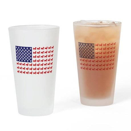Dachshund Patriotic Flag Pint Glass