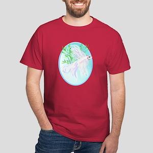 White Siamese Fighting Fish Dark T-Shirt