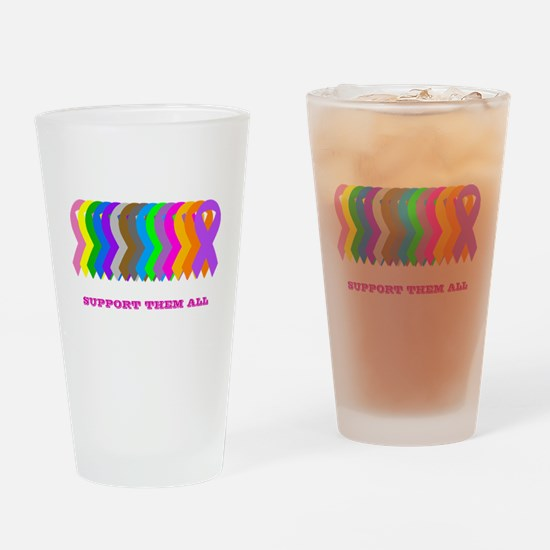 Support them all Drinking Glass