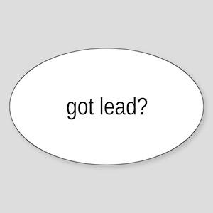 got lead Sticker (Oval)