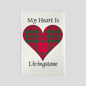 Heart - Livingstone Rectangle Magnet