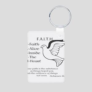 FAITH Aluminum Photo Keychain