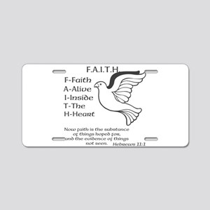 FAITH Aluminum License Plate