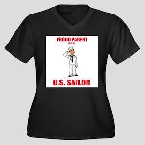 Proud Parents Women's Plus Size V-Neck Dark T-Shir