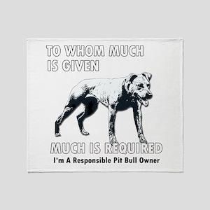 Responsible Owner Shirt Throw Blanket