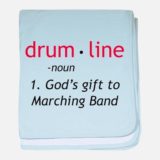 Definition of Drumline baby blanket