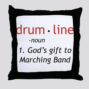 Definition of Drumline Throw Pillow