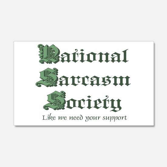 National Sarcasm Society 22x14 Wall Peel