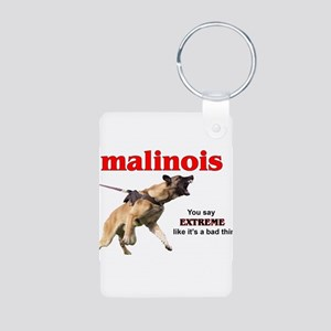 Schutzhund Malinois Aluminum Photo Keychain