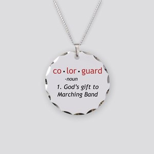 Definition of Colorguard Necklace Circle Charm