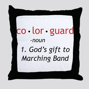 Definition of Colorguard Throw Pillow