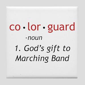 Definition of Colorguard Tile Coaster