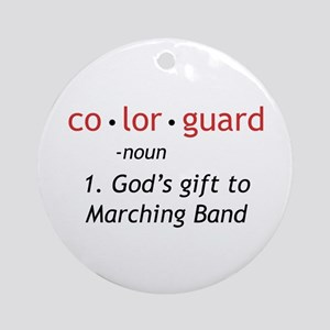 Definition of Colorguard Ornament (Round)
