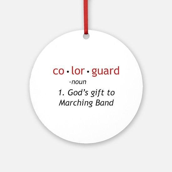 Definition of Colorguard Ornament (Round)