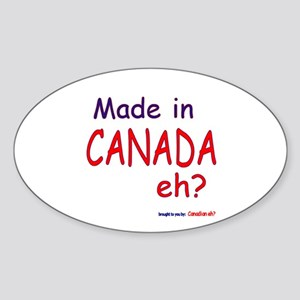 Canadian Eh? Oval Sticker
