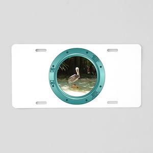Pelican Porthole Aluminum License Plate