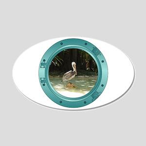 Pelican Porthole 22x14 Oval Wall Peel