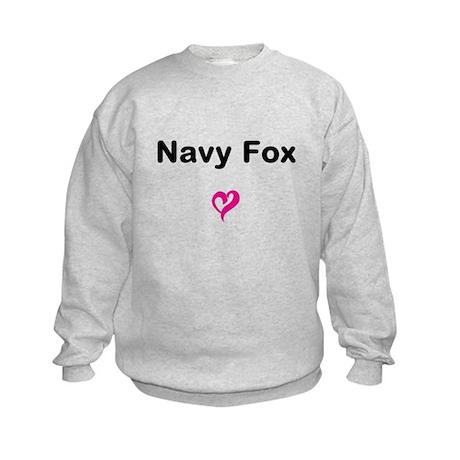 Navy Fox Kids Sweatshirt