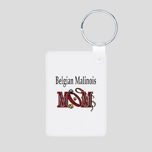 Belgian Malinois Mom Aluminum Photo Keychain