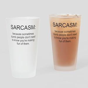 sarcasm Pint Glass