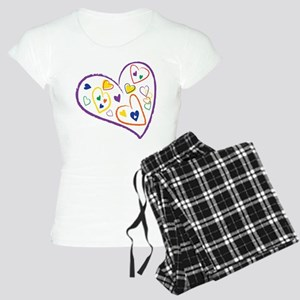 2 Moms, 1 Family Heart Design Women's Light Pajama