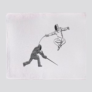 Fencing Match Throw Blanket