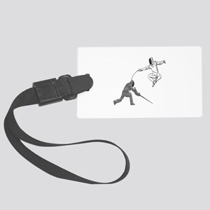 Fencing Match Large Luggage Tag