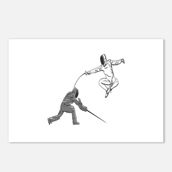 Fencing Match Postcards (Package of 8)