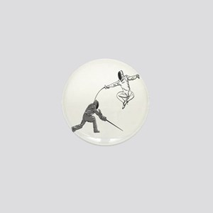 Fencing Match Mini Button