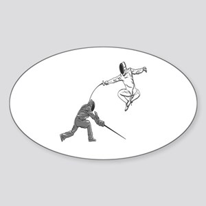 Fencing Match Sticker