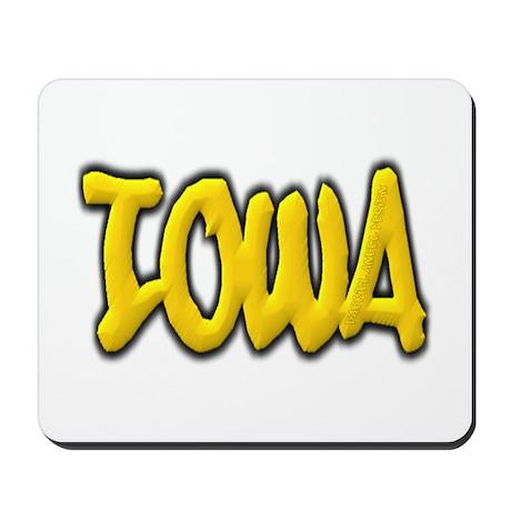 Iowa Graffiti Mousepad