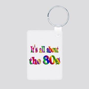 All About 80s Aluminum Photo Keychain