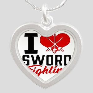 I Love Sword Fighting Necklaces