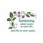 Gardening adds Years 38.5 x 24.5 Wall Peel