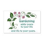 Gardening adds Years 22x14 Wall Peel