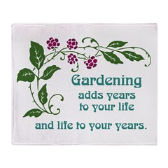 Gardening adds Years Throw Blanket