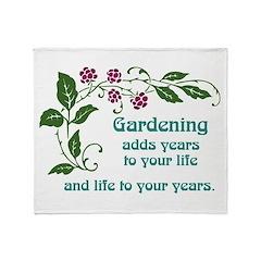 Gardening adds Years Throw Blanket