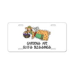 Gardens are God's Blessing Aluminum License Plate