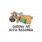Gardens are God's Blessing 38.5 x 24.5 Wall Peel