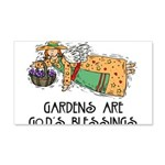 Gardens are God's Blessing 22x14 Wall Peel